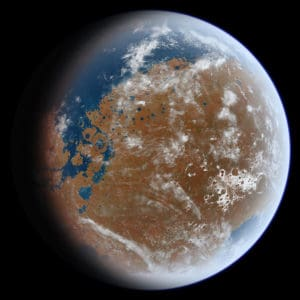 What Ancient Mars may have looked like (Photo Credit: Ittiz, via Wikimedia Commons).