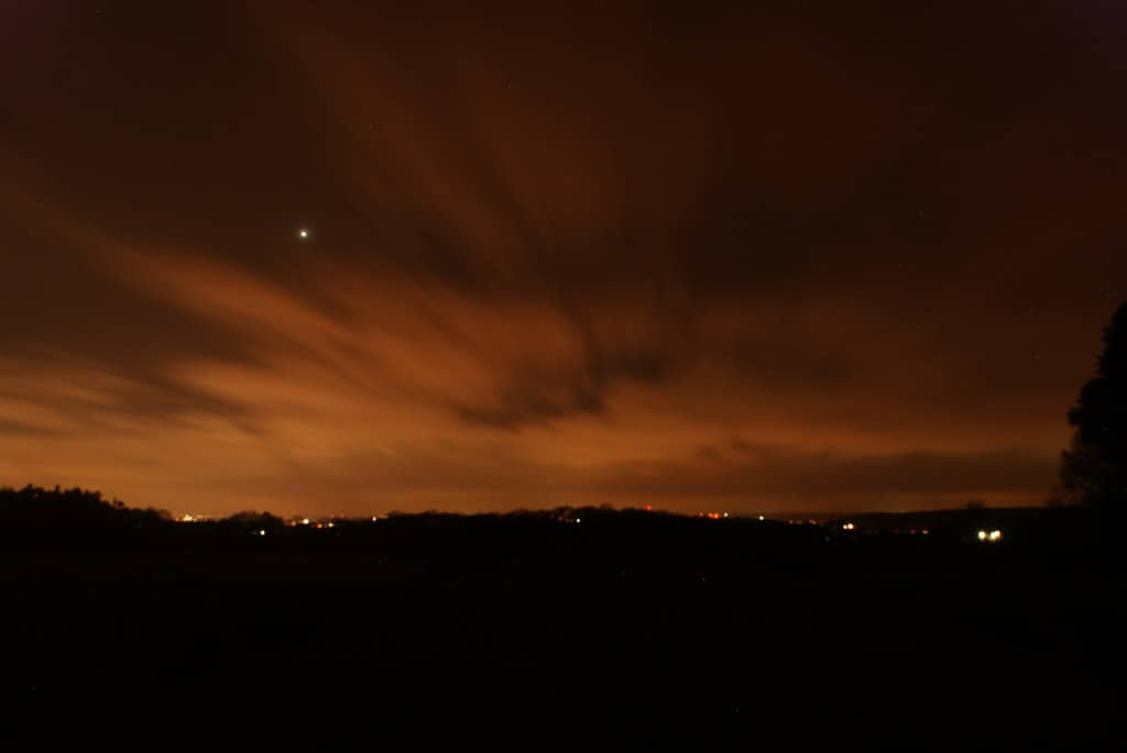 An image of light pollution